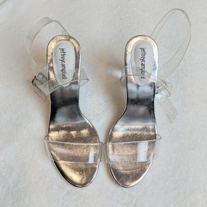 Jeffrey Campbell Doce Lucite Transparent Heels - 9